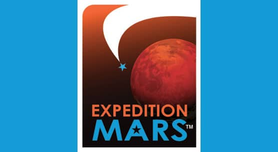 """""""Expedition Mars"""" with photo of planet"""